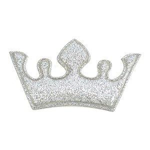Coroa Aplique Glitter 5 pontas 6x4cm Shine Beads®