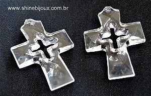 Crucifixo acrílico 5,5x4,5cm para lembrancinhas religiosos