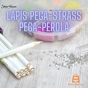 Lápis pega strass e perola  ponta precisa e apontável