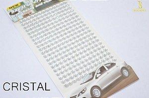 Strass Cartela auto colante 3mm acrílico Shine Beads®
