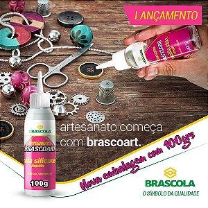 Cola silicone liquida Brascoart Brascola® 50 ou 100grs