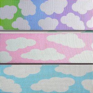 Fita gorgurão estampa nuvem Gitex® N˚05 / 09 /12 Rosa/Azul/degrade