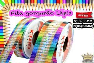 Fita gorgurão estampa lápis  Gitex® N˚05 / 09