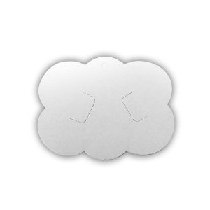 Tag nuvem papelão para bico de pato e laços 09x6,5cm