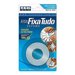 Fita dupla face Fixa Tudo - 12mm X 1,5m (Espuma) Tek bond®