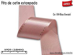Fita cetim estampa presponto Gitex® Nº09 (38mm)