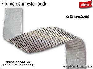 Fita cetim estampa listrada Gitex®  Nº09(38mm)