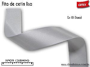Fita de cetim cores lisa Gitex® Nº09(38mm)
