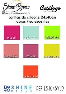 Lonita de silicone fluorescente  para laços piscina 24x40 cm columbia cores