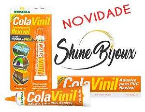 COLA VINIL BRASCOLA  EXTRA SEM TOLUENO ADESIVO PVC FLEXÍVEL