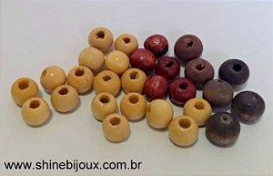 Bolas de madeira 8mm* natural contas de madeira multiuso