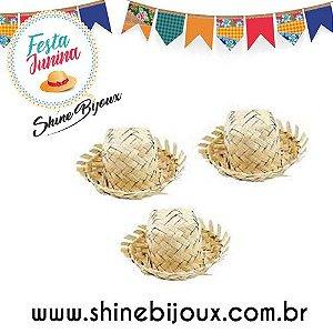 Mini chapéu de palha  chapeuzinho  junino para tiaras laços bico de pato ( especial festa junina)