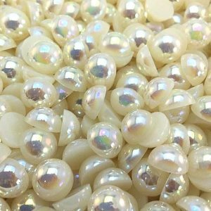 Meia Pérola Furta-cor ABS 08 mm Shine Beads®  Irisada