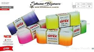 Fita gorgurão degrade Cítrico Gitex nº09 (38mm)  Tie-dye