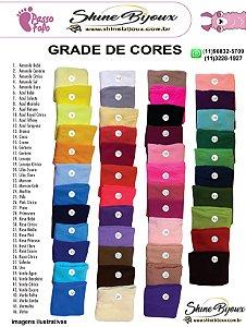 Meia de seda Passo fofo para artesanato Novas cores grade completa Pacote com 50 unidades