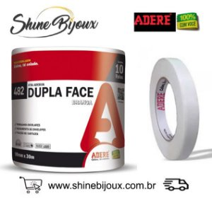Fita Dupla Face Adere  09mm x 30 metros  rolo ou pacote com 10 (300mts)