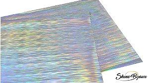 Lonita silicone holográfica Furta-cor  Rajada dupla face