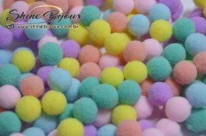 Pompom candy collor mix 10mm