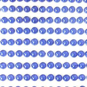 Meia Pérola Sticker ABS 6mm em cartela autocolante Shine Beads®