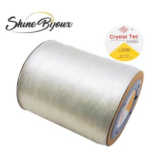 Fio de silicone elástico para pulseiras e bijuterias  1.0 mm transparente  Crystal Tec 1000mts