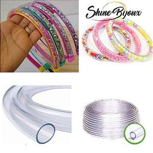 Tubo de silicone mangueira  para tiaras e pulseiras 8mm x 1mm
