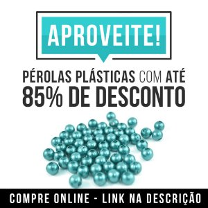 Pérola 6mm plastica Furo Passante 500 gramas super oferta 70% desconto