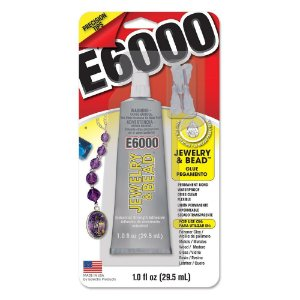 Cola E6000® JEWELRY and BEAD 29,5ml (1.0 fl oz) com 4 Bicos de Precisão bijoux e joias
