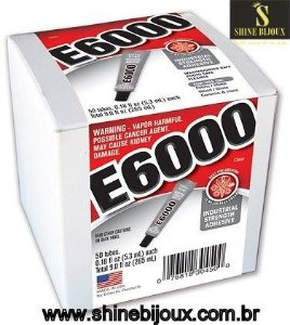 Cola E6000® Glue Clear Craft 5,3ml (0,18 fl oz) Mini Tubo