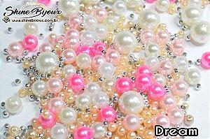 Blend de perolas mistas ABS  para tiara de luxo e bordados