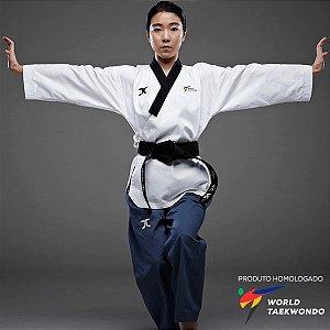 Dobok Kimono Taekwondo JCalicu Club Dan Feminino Poomsae