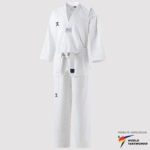 Dobok Kimono Taekwondo JCalicu CLUB Infantil Gola Branca