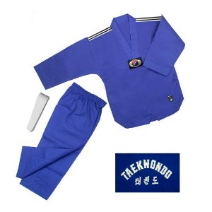 Dobok Kimono Taekwondo Sung-Ja Infantil Azul com faixa