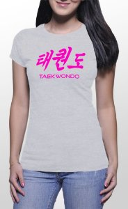 Camiseta Feminina Taekwondo Cinza