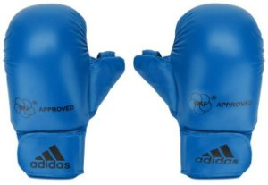 Luva Adidas Karate Azul WKF com polegar