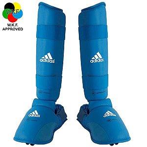 Protetor de Canela e Peito Pé Adidas Azul WKF