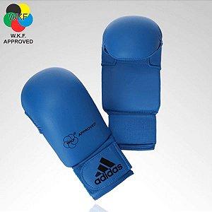 Luva Adidas Karate Azul WKF (sem polegar)