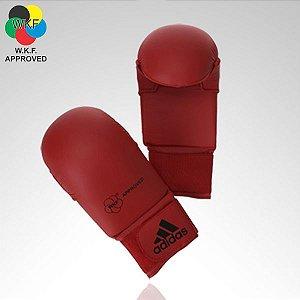 Luva Adidas Karate Vermelha WKF (sem polegar)