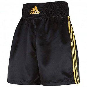 Short Bermuda para Boxe Muay Thai Adidas Preto e Dourado