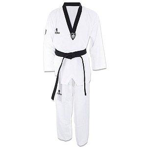 Dobok Kimono Taekwondo Strike Ultimate Gola Preta
