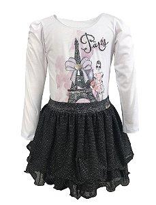 Conjunto Juvenil Paris com Saia