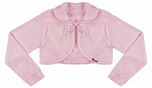 Casaco Infantil Plush Redondo c/ Gola Rosê