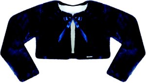 Casaco Infantil de Pele s/ Gola Azul