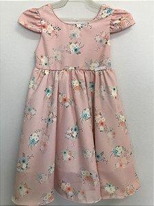 Vestido infantil gode estampado