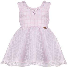 Vestido festa infantil rosa gode