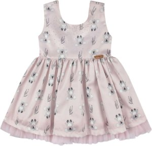 Vestido festa infantil coala