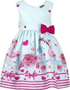 Vestido festa infantil laço pink