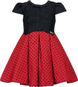 Vestido Infantil Chic Minnie