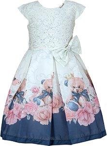 Vestido Infantil Casual c/ Strass Peito
