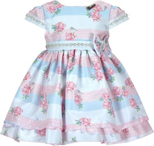 Vestido Infantil Chic c/ Detalhe Cinto