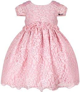 Vestido Infantil  Casual de Renda